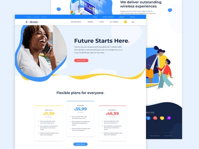 Redesign concept for T-Mobile tmobile redesign energetic clean concept website dribbble design minimal case study interface webdesign ui