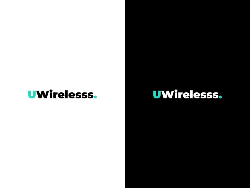 Uwirelesss - Logo Design brand identity simple logo simple minimaldesign concept clean design branding minimal text logo typography logo design logotype logo