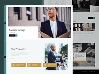 Daily UI #5. Law Firm Homepage Concept