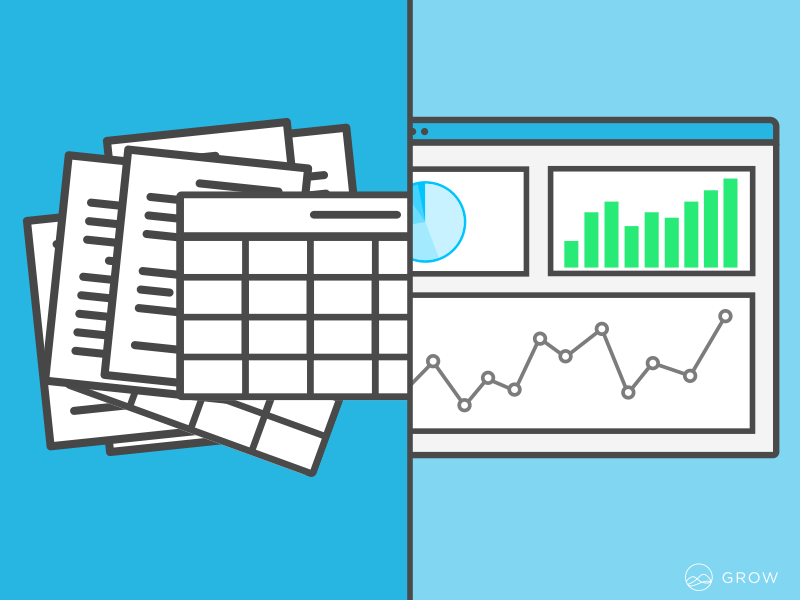 Cluttered Reports to Clean Dashboard Ad clean flat dashboard business dashboard graphs analytics data