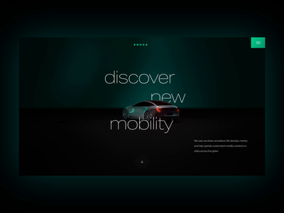 E Mobility Web Screen Interface UI Website Intro Animation uxdesign prototyping motion animation automotive car app website landingpage uidesign mobility uiux