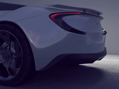Automotive Concept Full CG Animation 3D Model Drive Cycle motion graphics motion interface loop branding modeling productdesign design concept automotive car animation ux ui