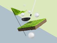 3D Golf Composing (Zero Gravity Style)