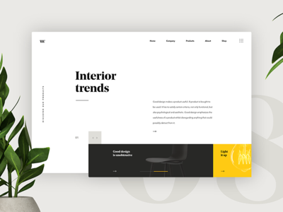 Interior Page Minimalistic UI Concept modern abstract concept webpage website webdesign interior product ux ui design minimalistic