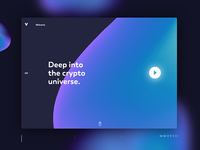 Welcome Screen for a Crypto platform