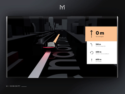 UI/UX Automotive Navigation Concept 3D Motion branding design interface app motion 3d automotive concept ux ui car