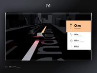 UI/UX Automotive Navigation Concept 3D Motion