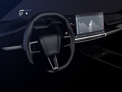 Autonomous Drive E Car Interface concept technology ux design motion cinema 3d app car concept automotive ui