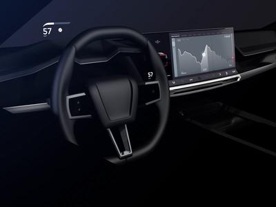 Autonomous Drive E Car Interface concept technology ux design motion cinema 3d app car concept automotive ui
