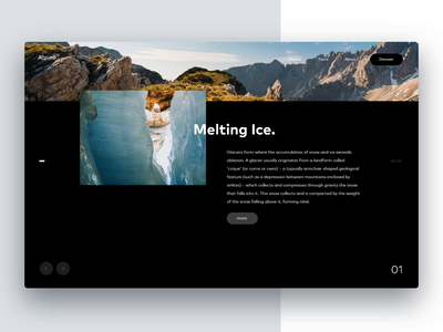 Eternity Concept Page Animation madewithadobexd branding motion concept interactive app interface animation design ui ux