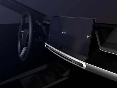 Mivon-E Automotive 2025 Start Sequence product cg 3d motion interface interaction web app ux ui automotive design concept automotive