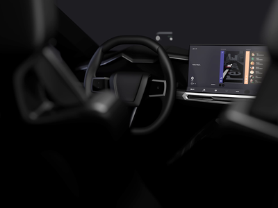 Dashboard Automotive Concept UI/UX Animation Cinematic Shot