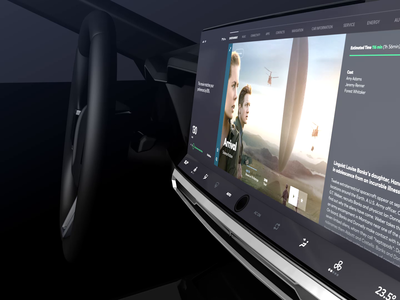 Automotive Entertainment Interface Concept UI/UX Interactive