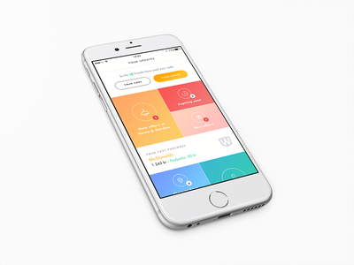 Wrapp - Dashboard wrapp personal card data app colors dashboard