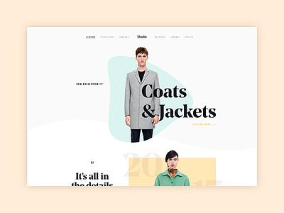 Fashion page image app interface shop product minimal web fashion