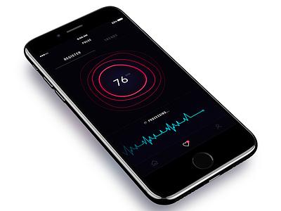 Pulse app dark cardiogram heart rate app pulse