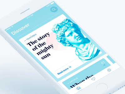 Articles app ios11 discover colorful blue app