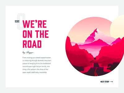 Story website web design web typography travel illustration