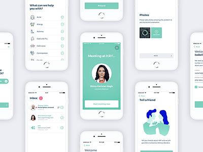 KRY - Meet a doctor online app design ux mobile ui startup app kry doctor ios