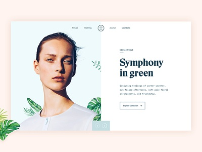 Fashionable — Header typography store shop minimal fashion ecommerce clothes clean