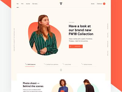 Conscious web shop shop landing page fashion design colors website web typography