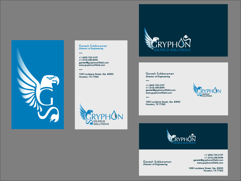 Business Card Options for Oil & Gas Company rebranding by Kevan ...