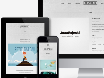 Centreal Premium Wordpress Portfolio Theme center-aligned portfolio theme wordpress theme northeme