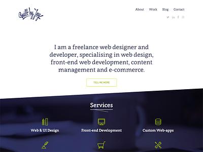 Built By Jay web portfolio freelance bootstrap responsive