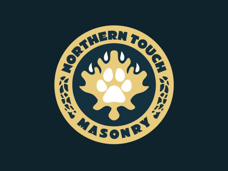 Northern Touch Crest illustration clean crest branding