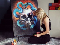 Euryale Painting Work In Progress