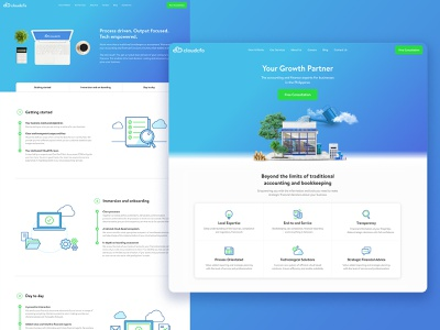 Accounting Website Redesign ui web design website design