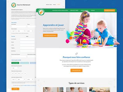 Day Care Website day care kids ui website design website design