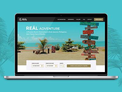 Resort Website Design website concept website design design