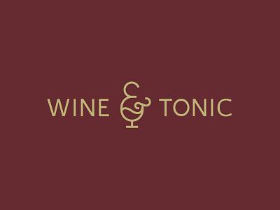 Wine & Tonic Logo winery wine branding and identity brand identity branding concept branding design branding brand design logos logotype logo design logo