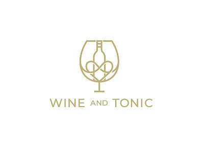 Wine & Tonic Logo design wine branding concept branding and identity brand identity branding design branding brand logo design logotype logos logo