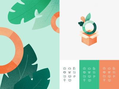 Seeds Investor — Illustrations and Icon Set earth inspired natural growth ui iconography branding finances z1 leaves package investors seedsinvestor illustration icons set icon set icons