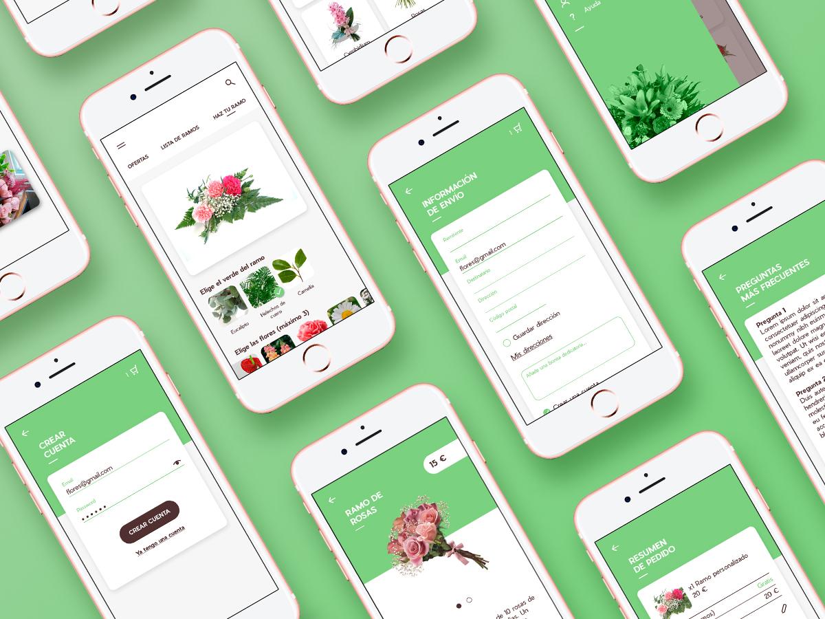 App flowers delivery concept uidesign uxdesign ui sketchapp app design design