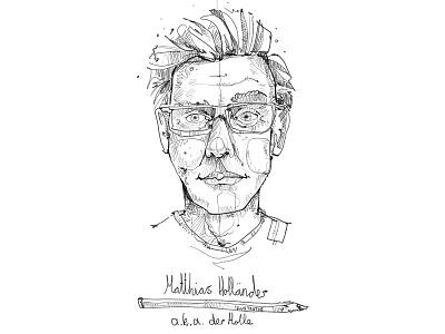 Selbstbildnis bonn matthias holländer digital painting derholle portrait illustrator