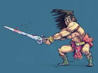 Boardgame Character Barbar