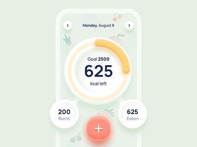 Nutrition fasting diet keto ux dribbble userinterface mobile app design dailyui interface minimal ui