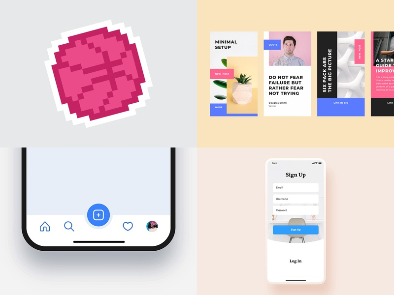 My #Top4Shots from 20182018 mobile ux illustration dailyui interface photo minimal ui