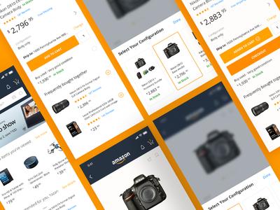 Amazon App Redesign add to cart iphone x ios cart app mobile e-commerce amazon