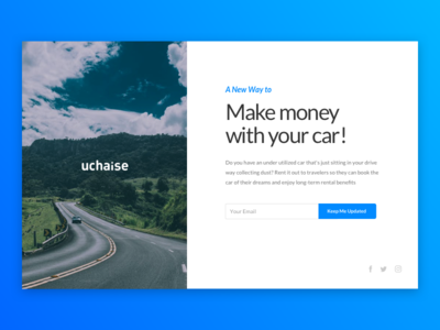 Uchaise Landing Page make money with your car landing page car website cars uchaise