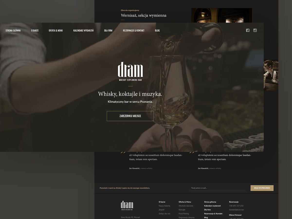 Dram Bar Website Redesign website branding design web ux ui