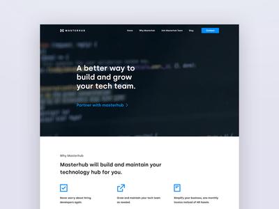 Masterhub flat typography website web ux ui design branding