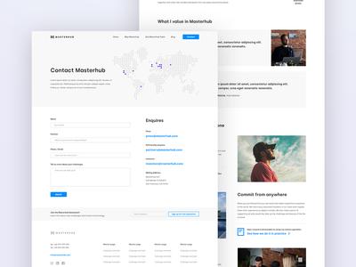 Masterhub (subpages) flat minimal typography website web ux ui design branding