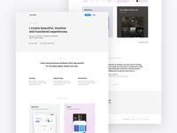Personal Portfolio Website identity minimal typography flat website web ux ui design branding