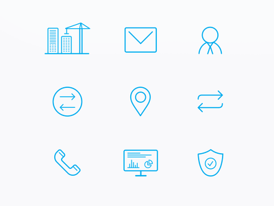 Investing service icons iconset icons vector minimal branding web design