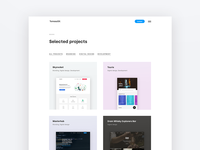 Portfolio project page website minimal flat ux ui branding web design