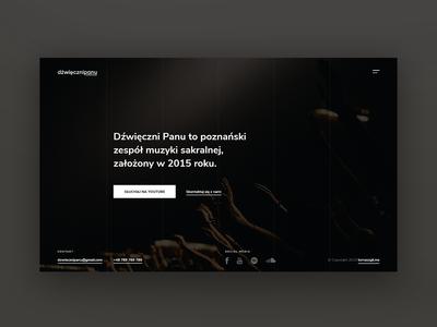 Music band website website minimal flat ux ui branding web design